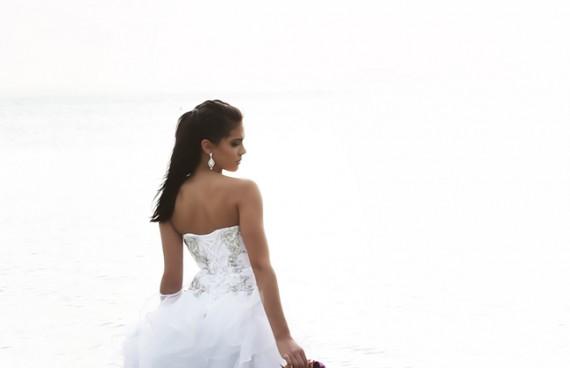 quinceanera beach white
